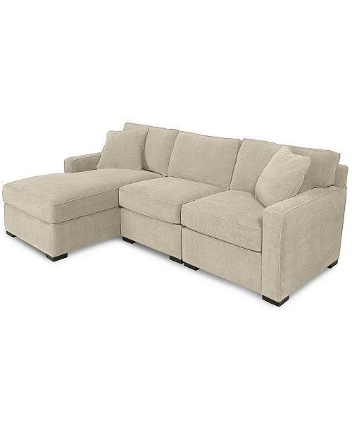 Sofa Macys: Furniture Radley 3-Piece Fabric Chaise Sectional Sofa