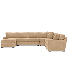 Radley 5-Piece Fabric Chaise Sectional Sofa - Custom Colors, Created for Macy's