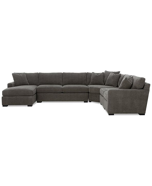 Furniture Radley 5-Piece Fabric Chaise Sectional Sofa, Created for Macy's