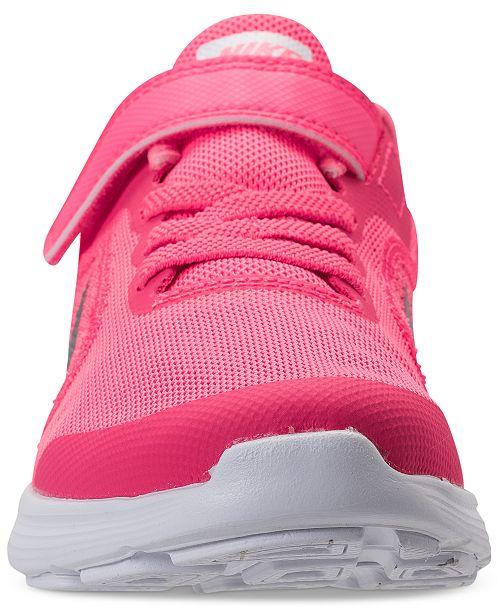 639e3e2e823 ... Nike Little Girls  Revolution 3 Stay-Put Closure Running Sneakers from Finish  Line ...