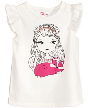 Epic Threads Mix and Match Girl  Fox GraphicPrint TShirt Toddler Girls (2T5T) Created for Macys