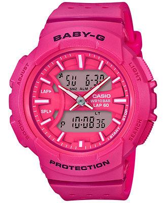 G Shock Women S Analog Digital Baby G Pink Resin Strap