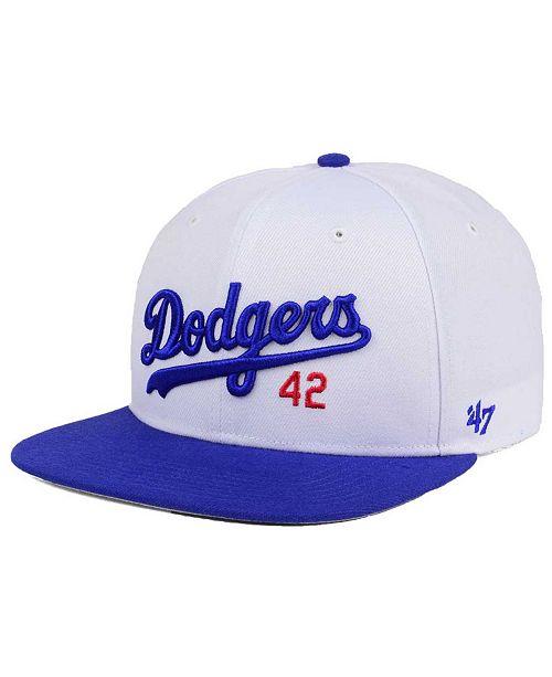 super popular 40020 a6dfa ...  47 Brand Jackie Robinson Brooklyn Dodgers Captain Cap    ...