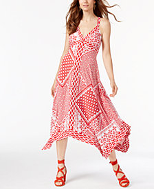 I.N.C. Patchwork-Print Dress, Created for Macy's