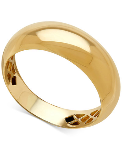 Italian Gold Polished Dome Ring In 14k Gold Rings
