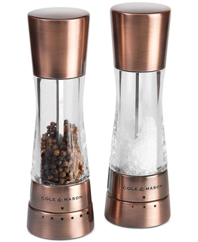 Cole & Mason Derwent Copper Salt & Pepper Grinder Set