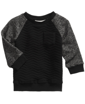First Impressions Quilted Raglan Sweatshirt Baby Boys (024 months) Created for Macys
