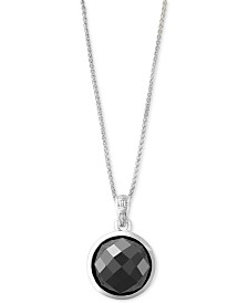 EFFY® Hematite (12mm) Pendant Necklace in Sterling Silver