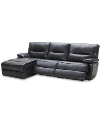 Garraway 3-Pc. Leather Sectional Sofa with Chaise 2 Power Recliners with Power  sc 1 st  Macyu0027s & Power Reclining Sectional Sofas and Couches - Macyu0027s islam-shia.org