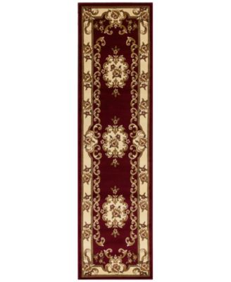 "CLOSEOUT! Corinthian 5308 Red/Ivory Aubusson 2'2"" x 7'11"" Runner Rug"