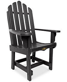 Essentials Outdoor Dining Adirondack Chair with Arms, Quick Ship