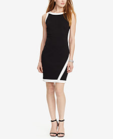 Lauren Ralph Lauren Colorblocked Sheath Dress