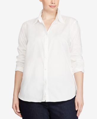 Plus Size Long Sleeve Non-Iron Shirt