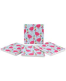 Thirstystone Party Flamingos 4-Pc. Coaster Set