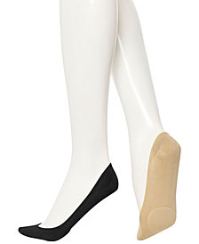 HUE® Women's Padded Hidden Microfiber Liner Socks