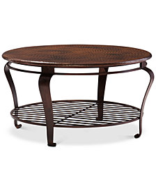 Clark Copper Round Coffee Table