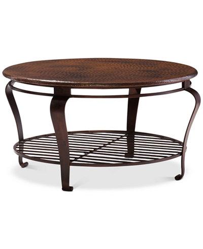 Clark Copper Round Coffee Table