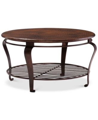 Clark Copper Round Coffee Table. Furniture