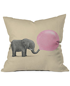 "Deny Designs Terry Fan Jumbo Bubble Gum 16"" Square Decorative Pillow"