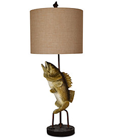 Crestview Fly Fish Table Lamp