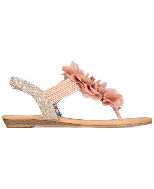 61716cb550f ... Material Girl Sari Floral Embellished Flat Sandals