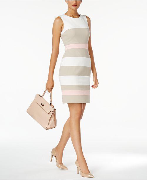 5d140064 Tommy Hilfiger Striped Scuba Sheath Dress & Reviews - Dresses ...