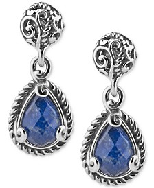 Lapis Lazuli Doublet Drop Earrings (4-3/8 ct. t.w.) in Sterling Silver