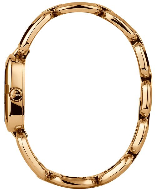 5559d118f50 ... Gucci Women s Swiss G-Gucci Gold-Tone PVD Stainless Steel Bracelet  Watch 32x30mm YA125408 ...