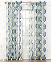 Lichtenberg No. 918 Bucoda Crushed Voile Geometric Watercolor Curtain Panel Collection