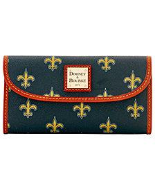 Dooney & Bourke New Orleans Saints Large Continental Clutch