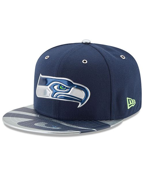 finest selection 5fec6 ee50a New Era. Seattle Seahawks 2017 Draft Team Color 59FIFTY Fitted Cap