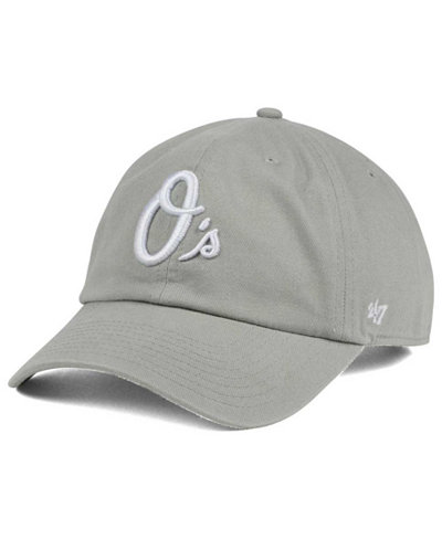 '47 Brand Baltimore Orioles Gray White CLEAN UP Cap