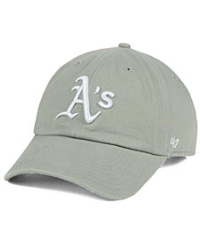 '47 Brand Oakland Athletics Gray White CLEAN UP Cap