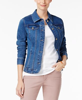 Charter Club Denim Jacket, Created for Macy's - Jackets - Women ...