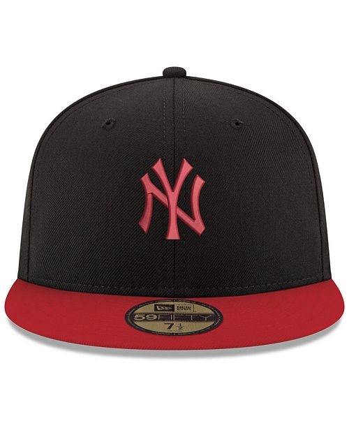 6c22d981c New Era New York Yankees Black & Red 59FIFTY Fitted Cap & Reviews ...