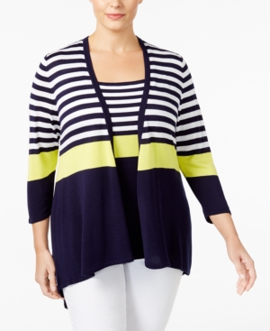 Belldini Plus Size Striped...