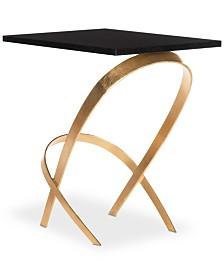 Dovie Gold Leaf Side Table, Quick Ship