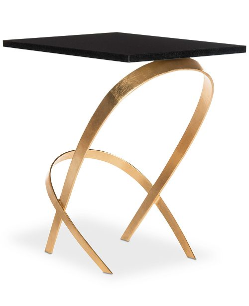 Dovie Gold Leaf Side Table Quick Ship