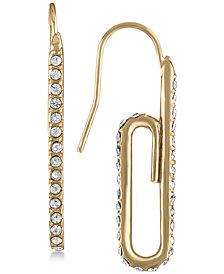 RACHEL Rachel Roy Gold-Tone Pavé Paperclip Drop Earrings