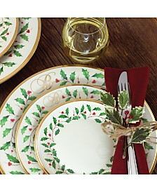 Lenox Holiday  Personalized Dinnerware Collection