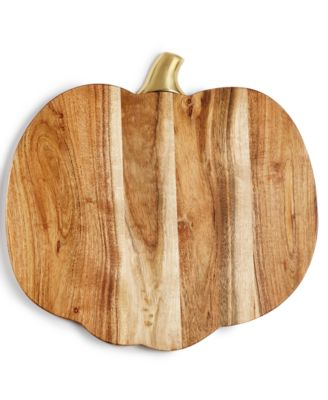 Harvest Wood Pumpkin Charger, Created for Macy's