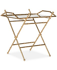 Misae Gold Leaf Top Table, Quick Ship