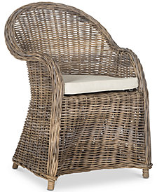 Zane Wicker Club Chair, Quick Ship