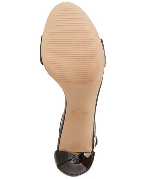 13fe0c98957 Nine West Leisa Two-Piece Kitten Heel Sandals   Reviews - Sandals ...