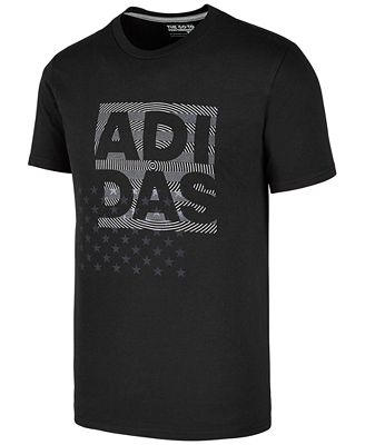 adidas Men's Logo-Print T-Shirt, Created for Macy's - T-Shirts ...