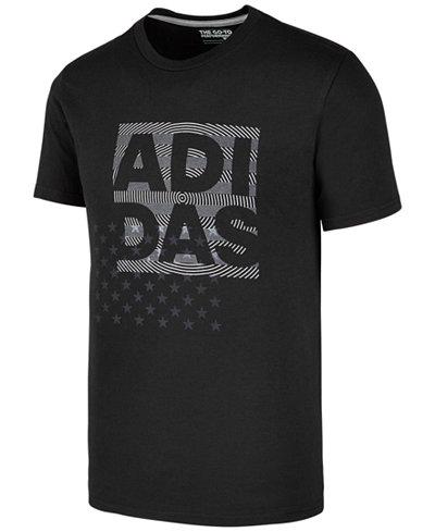 adidas Men's Logo-Print T-Shirt, Created for Macy's - T-Shirts ...