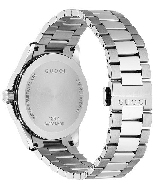 4ffecafa03c ... Gucci Unisex Swiss G-Timeless Stainless Steel Bracelet Watch 38mm  YA126441 ...