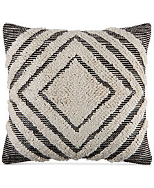 "CLOSEOUT! Martha Stewart Collection Nesting Diamonds 20"" Square Decorative Pillow, Created for Macy's"