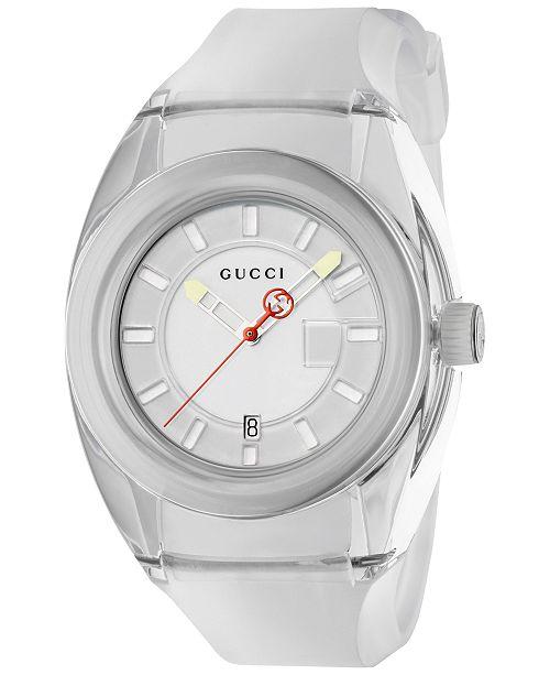 9c65cfc235d ... Gucci Unisex Swiss Gucci Sync White Transparent Rubber Strap Watch 46mm  ...