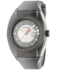Unisex Swiss Gucci Sync Black Transparent Rubber Strap Watch 46mm